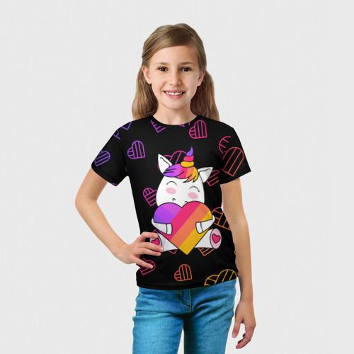 Детская футболка 3D LIKEE - ЕДИНОРОГ Фото 01