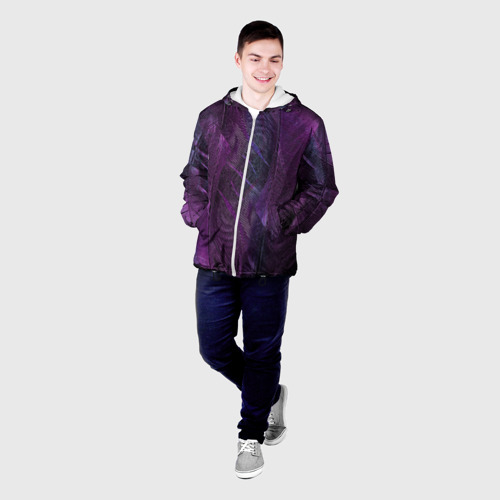 Мужская куртка 3D Неоновые перья Фото 01