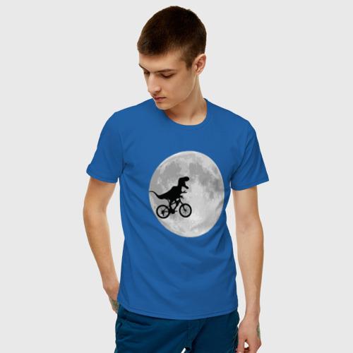 Мужская футболка хлопок T-rex Riding a Bike Фото 01