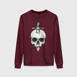 Skull with dagger