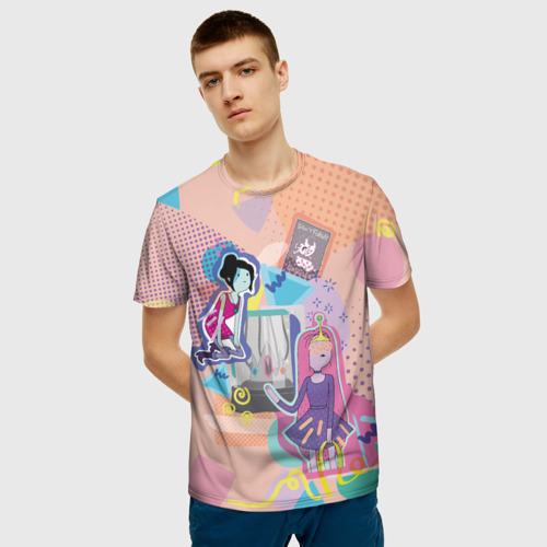 Мужская футболка 3D Принцесса Бубльгум и Марселин Фото 01