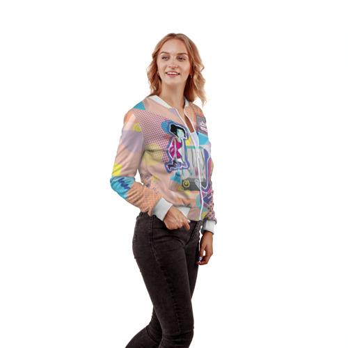 Женский бомбер 3D Принцесса Бубльгум и Марселин Фото 01