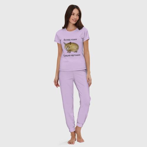 Женская пижама хлопок Кошка-Картошка Фото 01