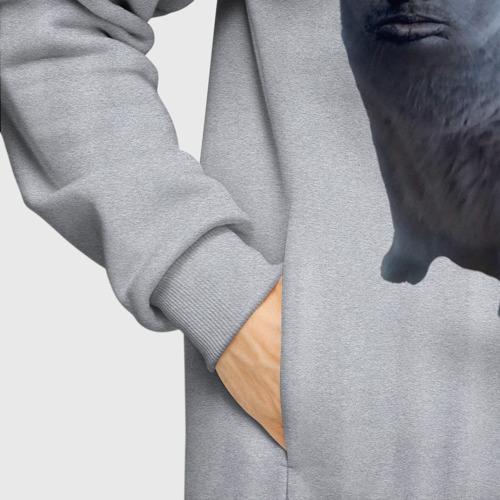 Мужское худи Oversize хлопок Валакас кот Фото 01