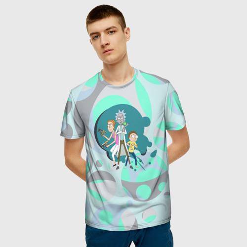 Мужская футболка 3D Rick, Morty и Summer Фото 01