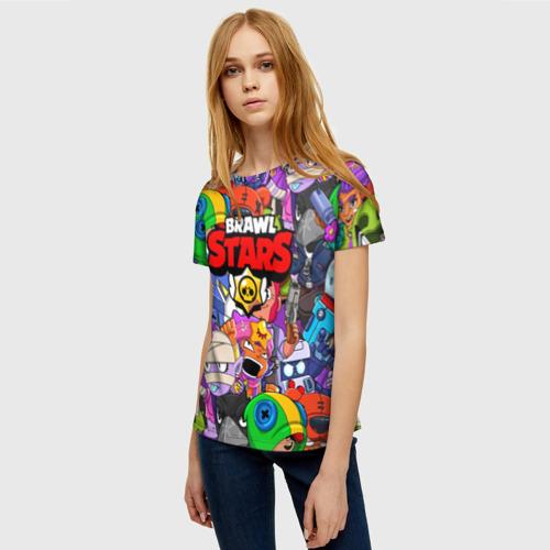 Женская футболка 3D BRAWL STARS Фото 01