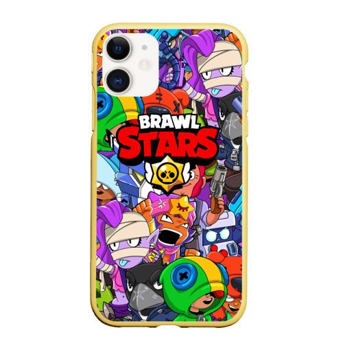 Чехол для iPhone 11 матовый BRAWL STARS Фото 01