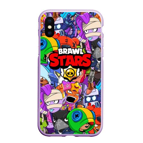 Чехол для iPhone XS Max матовый BRAWL STARS Фото 01