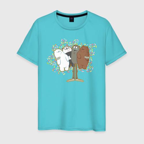 Мужская футболка хлопок Charle and bears Фото 01
