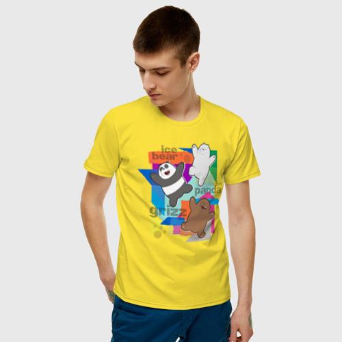Мужская футболка хлопок  We Bare Bears Фото 01