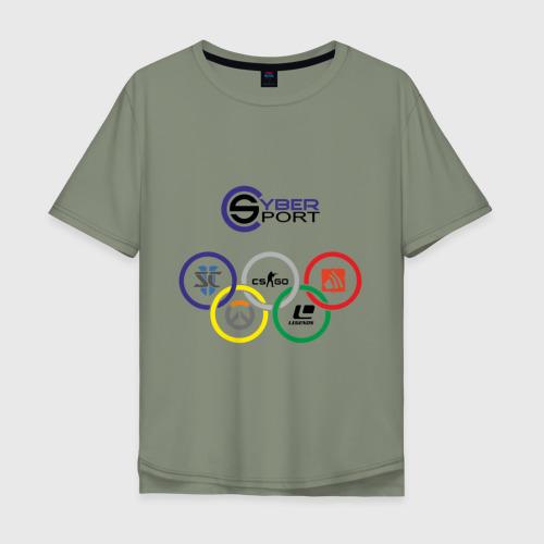 Мужская футболка хлопок Oversize CyberSport Фото 01