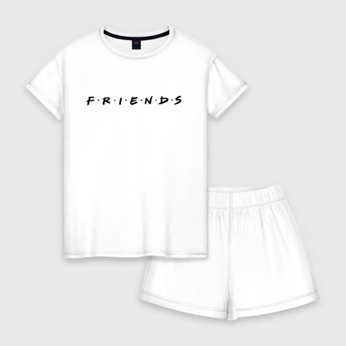 Женская пижама с шортиками хлопок Logo Friends Фото 01