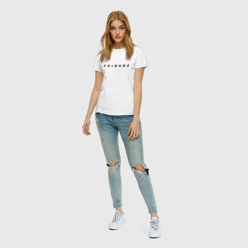 Женская футболка хлопок Logo Friends Фото 01