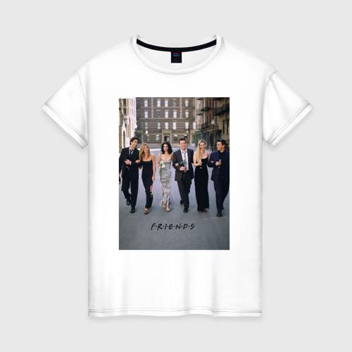 Женская футболка хлопок Friends Фото 01