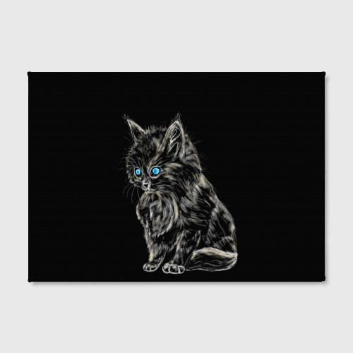 Холст прямоугольный Пушистый котёнок  Фото 01