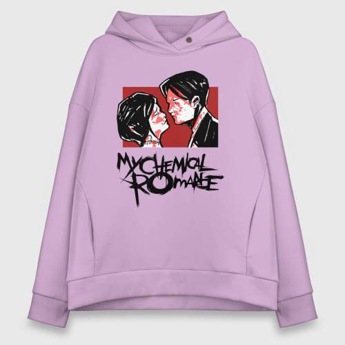 Женское худи Oversize хлопок My Chemical Romance Фото 01
