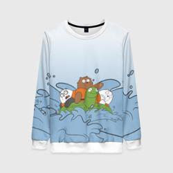 Bears on a turtle