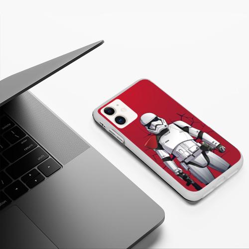 Чехол для iPhone 11 матовый Stormtrooper Фото 01