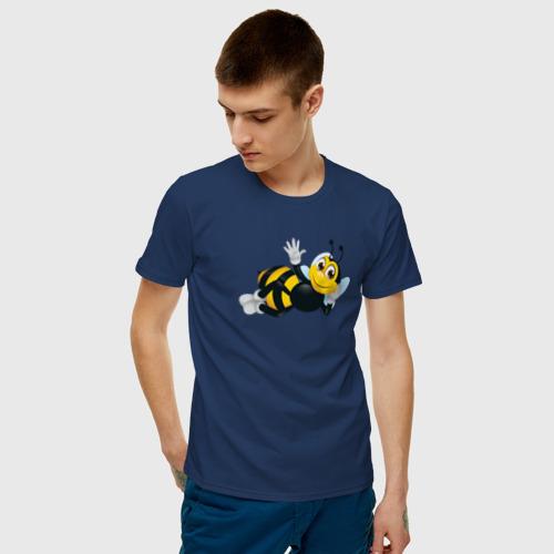 Мужская футболка хлопок Пчела Фото 01
