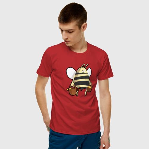 Мужская футболка хлопок Пчела С Медом Фото 01