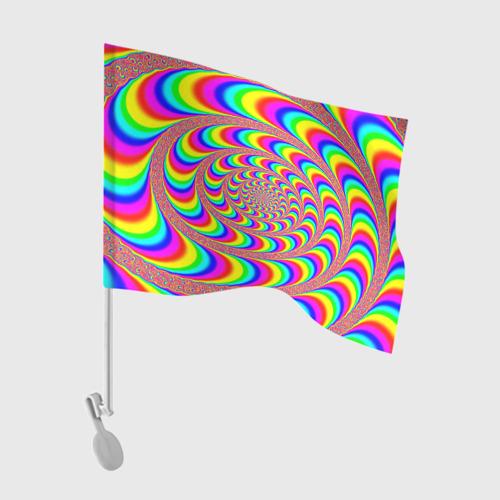 Флаг для автомобиля Оптическая текстура Фото 01