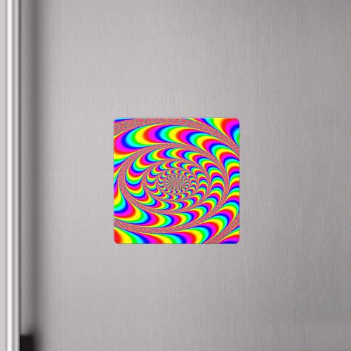 Магнит виниловый Квадрат Оптическая текстура Фото 01