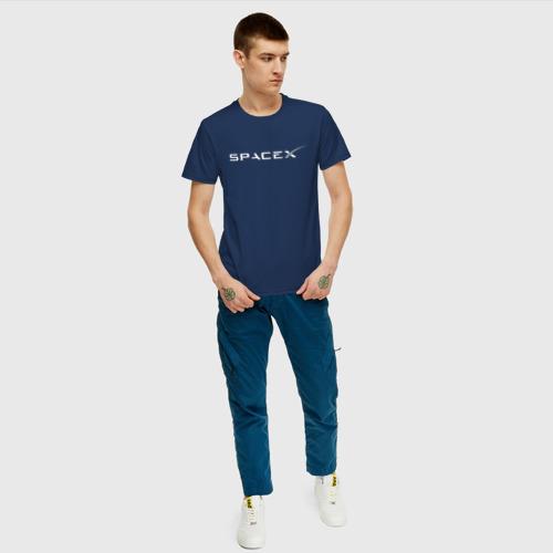 Мужская футболка хлопок SPACEX - ИЛОН МАСК (НА СПИНЕ). Фото 01