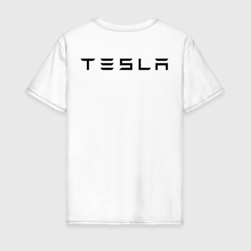 Мужская футболка хлопок TESLA - ИЛОН МАСК (НА СПИНЕ). Фото 01