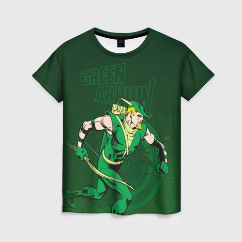 Женская футболка 3D Green Arrow Фото 01
