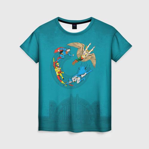 Женская футболка 3D The Justice League Фото 01