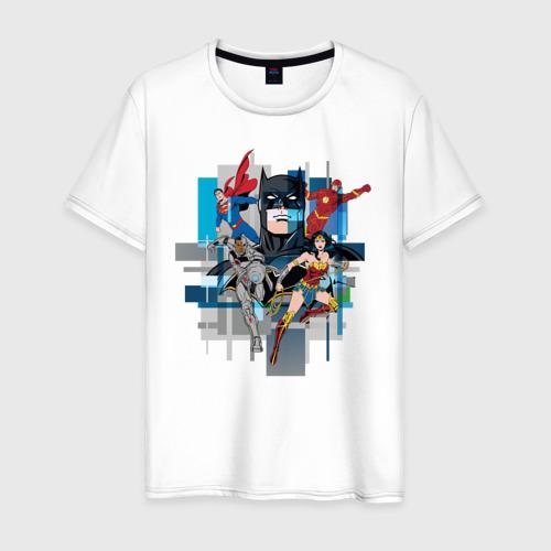 Мужская футболка хлопок Лига Справедливости Фото 01