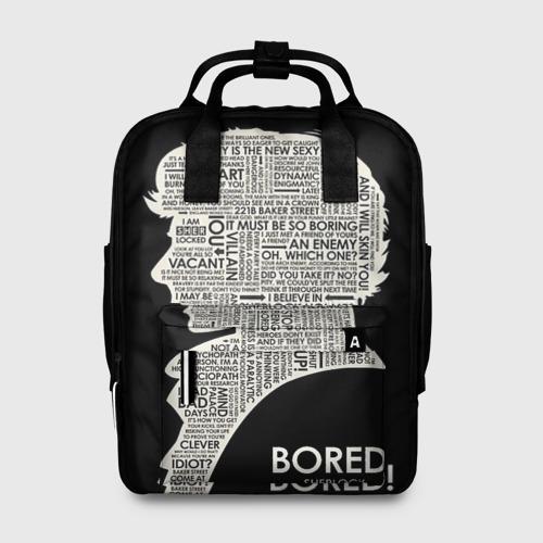 Женский рюкзак 3D Bored sherlock Фото 01