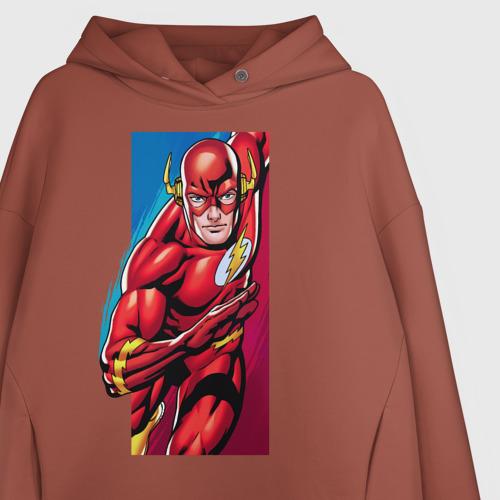 Женское худи Oversize хлопок Flash, Justice League Фото 01