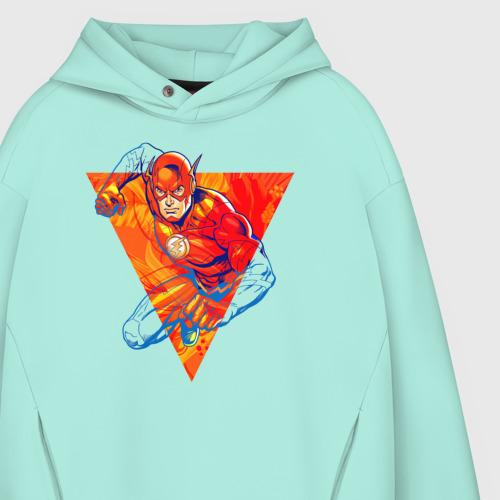 Мужское худи Oversize хлопок Flash, Justice League Фото 01