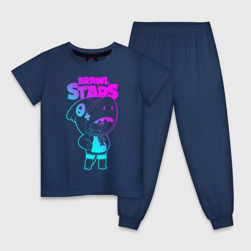 Детская пижама хлопок Brawl Stars LEON Фото 01