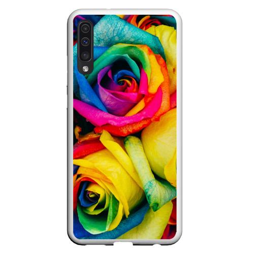 Чехол для Samsung A50 Разноцветные розы Фото 01