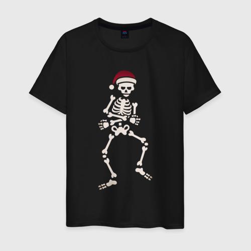 Мужская футболка хлопок Dab Skeleton за  1260 рублей в интернет магазине Принт виды с разных сторон