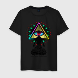 Neon alien.The all-seeing eye
