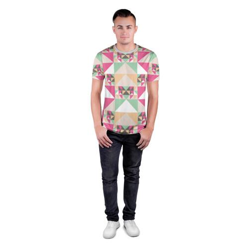 Мужская футболка 3D спортивная Геометрическая иллюзия Фото 01