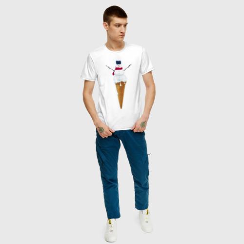 Мужская футболка хлопок Snowman Ice Cream Фото 01