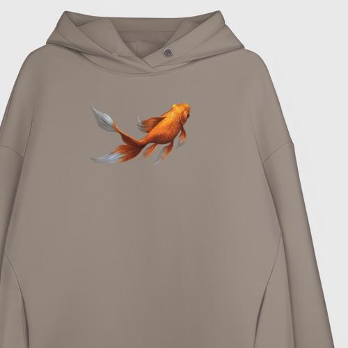 Женское худи Oversize хлопок Золотая Рыбка Фото 01