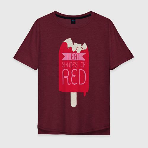 Мужская футболка хлопок Oversize I Eat Shades Of Red Фото 01