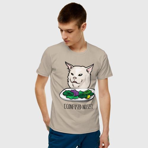Мужская футболка хлопок Woman yelling at a cat meme Фото 01