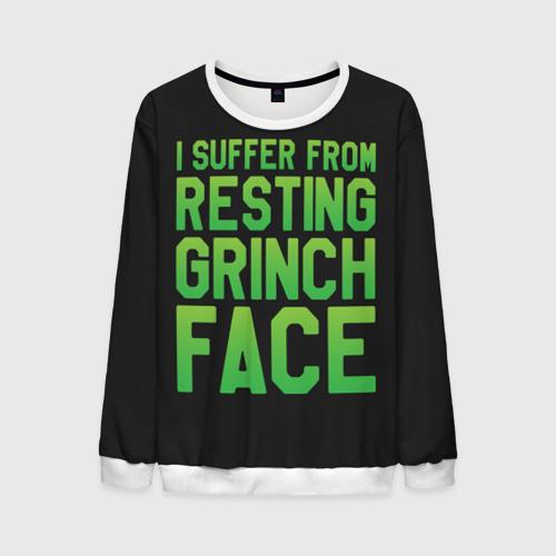 Мужской свитшот 3D Grinch Face Фото 01