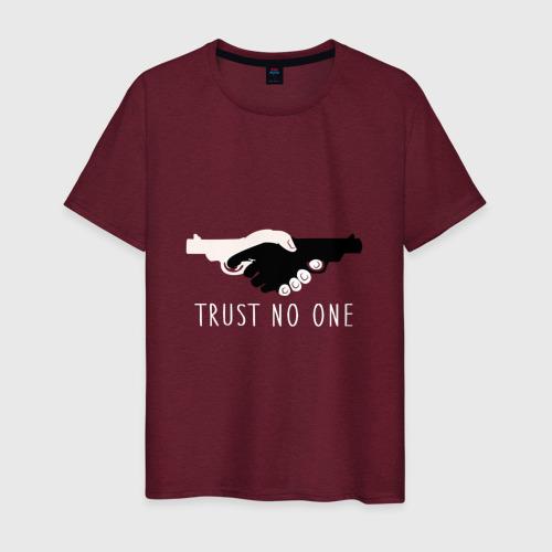 Мужская футболка хлопок Никому не доверяй Фото 01