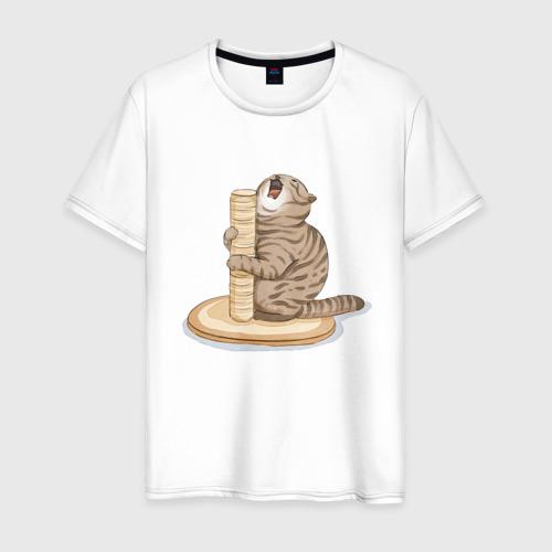 Мужская футболка хлопок Орущий Кот Фото 01