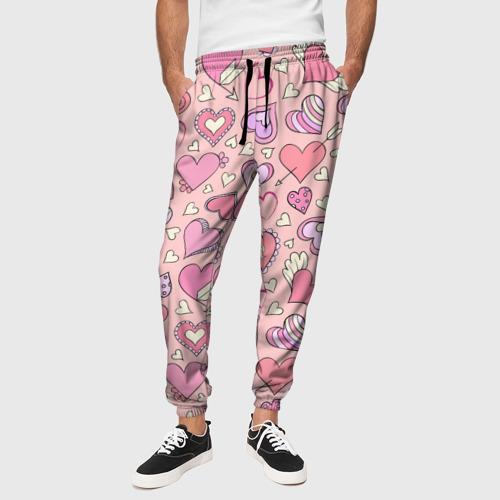 Мужские брюки 3D Сердечки Фото 01