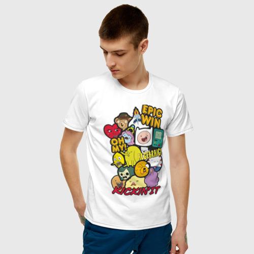 Мужская футболка хлопок Heroes Adventure Time Фото 01