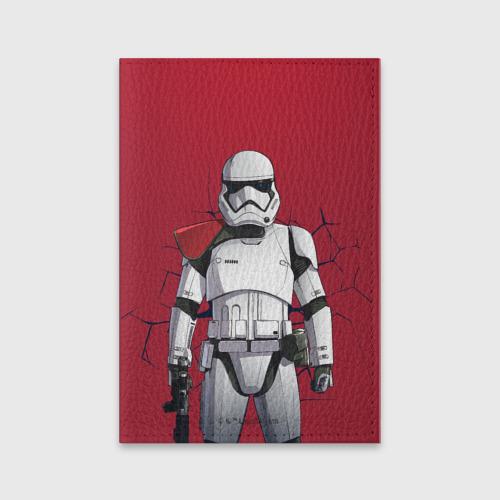 Обложка для паспорта матовая кожа Stormtrooper Фото 01