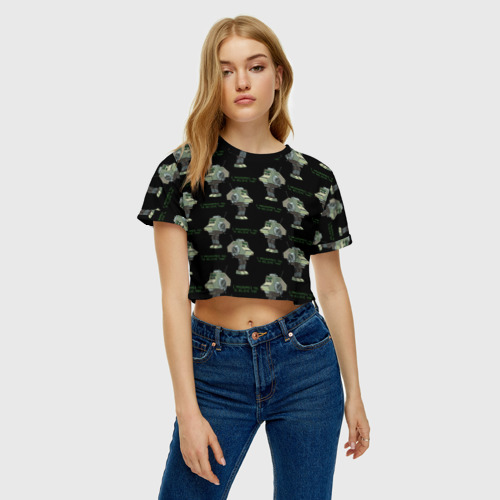 Женская футболка Crop-top 3D HEISTOTRON Фото 01